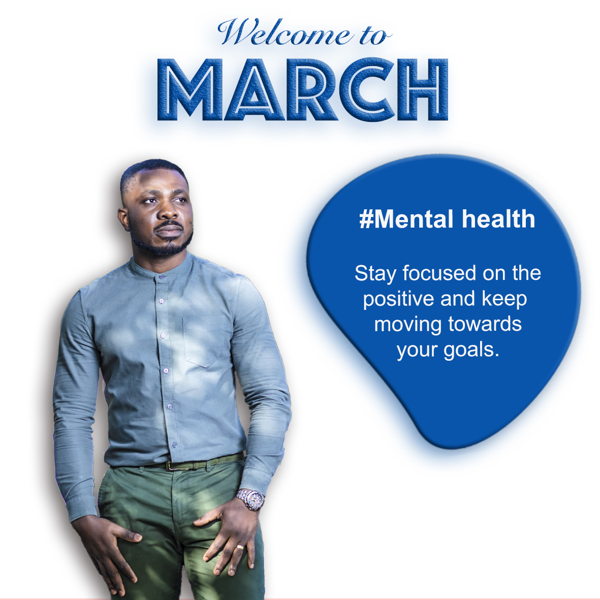 Happy new month believers🤗 Remember to stay focused and keep your eyes on your goals.  #mentalhealth #totalman