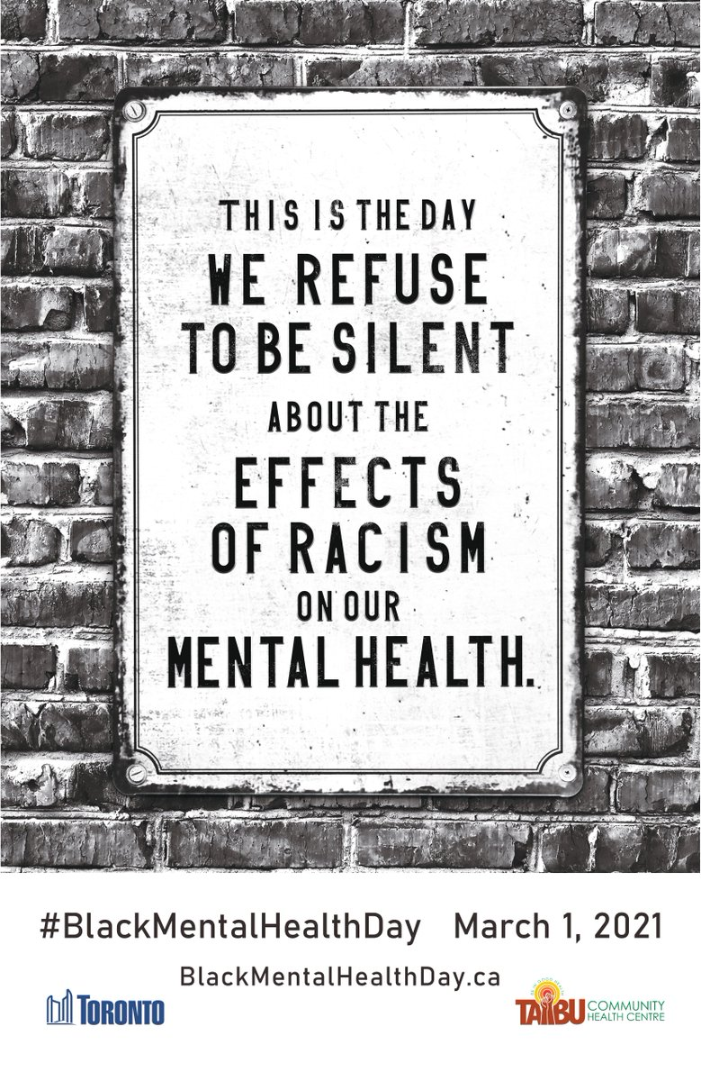 Today is #BlackMentalHealthDay, a day to raise awareness about the impact of anti-Black racism on #MentalHealth in our Black communities & the need for culturally appropriate mental health services. Learn more: