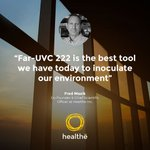 """It [Far-UVC 222] is the best tool we have today to inoculate our environment...it creates resilience in our environment in a day where pandemics like this are likely to happen again.""  - Fred Maxik, Healthe CSO Learn more at: https://t.co/BQAZS5OGFC #UVC222 #HealtheInc"