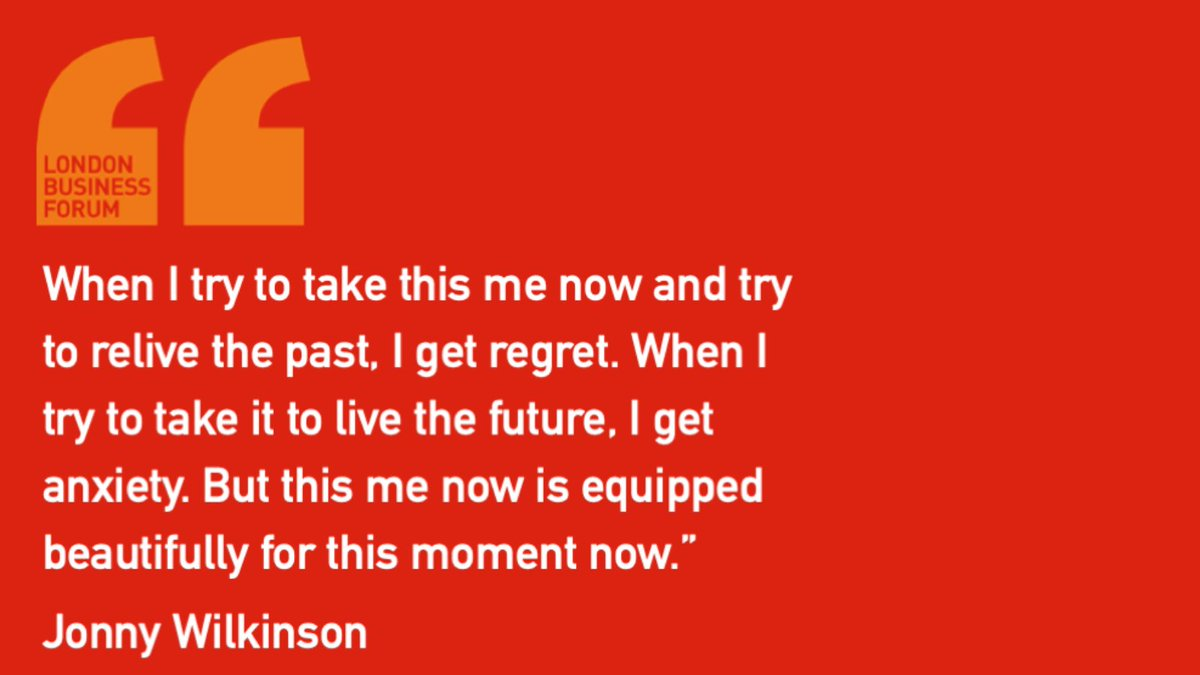 @JonnyWilkinson   Do you spend time worrying about the future and wanting to change the past? Try to just live in the now. It will make you feel more grounded and less anxious.   #anxiety #rugby #mondaymotivation #inspiration #mentalhealth