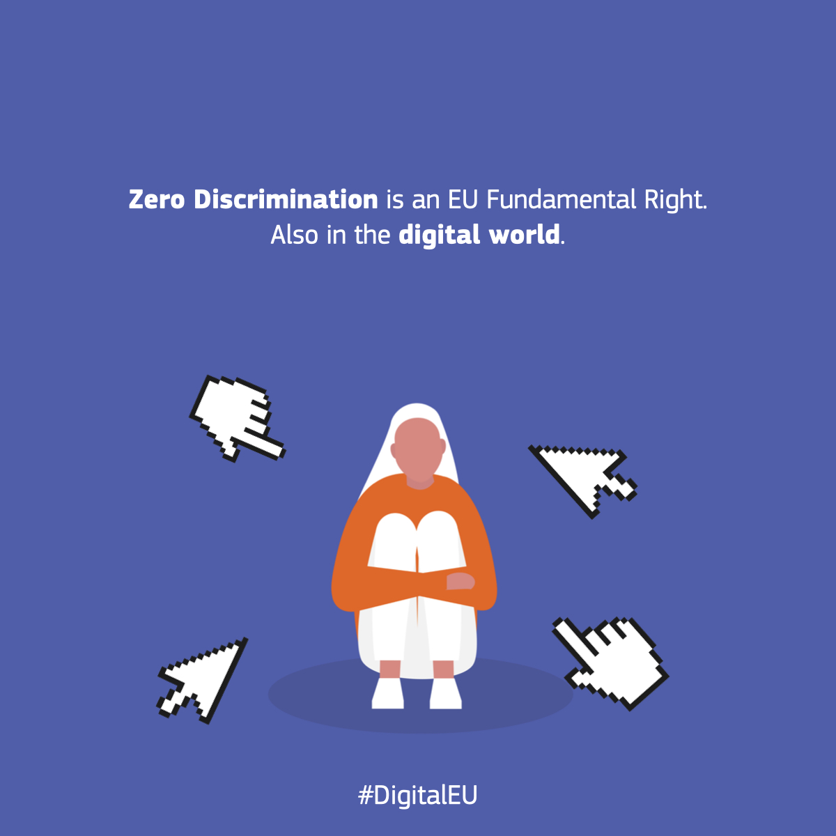 🌐 Inclusive, open, a place of opportunities, a place where everyone can share & develop new ideas 🌐. Thats how we want the online world to be. A place with Zero Discrimination. #ZeroDiscriminationDay #WomenInTech #UnionOfEquality #DigitalEU