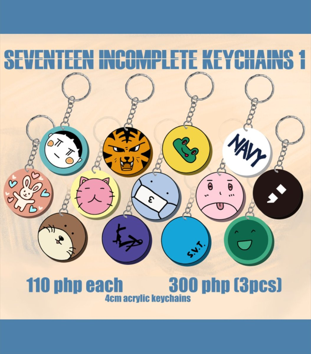 [PH GO] SEVENTEEN In-Complete Keychains #DoReMi_Orders  110 php each 300 php (3pcs)  📋For Pre-order 🗓DOO: March 25, 2021(batch 1) 💸DOP: 3 Days after order confirmation  🎶Order Form:   #SEVENTEEN #seventeenmerch #svtmerch #SVT_IN_COMPLETE