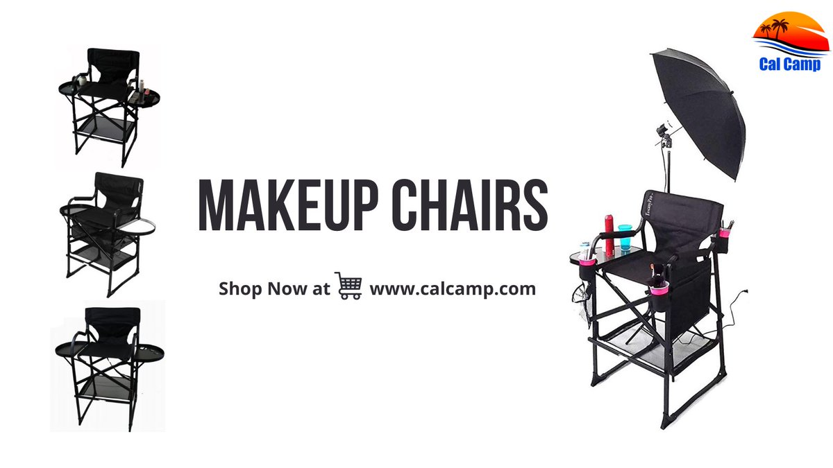 CalCamp makeup chairs are foldable and portable and can be carried out to everywhere you like.  Shop 🛒 Now at   #portablechair #foldingchair #makeupchair #makeupchairs #makeupartist #makeup #CalCamp #chair #hairstyling