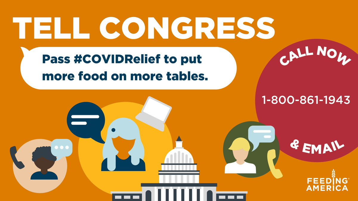 🥕 Far too many of our neighbors need help w/ food. It's as simple as that.  ☎️ 𝑻𝒂𝒌𝒆 𝒂𝒄𝒕𝒊𝒐𝒏: Call your Senators at 1-800-861-1943 & urge them to pass #COVIDRelief that provides the scale of food support our neighbors facing hunger need right now.