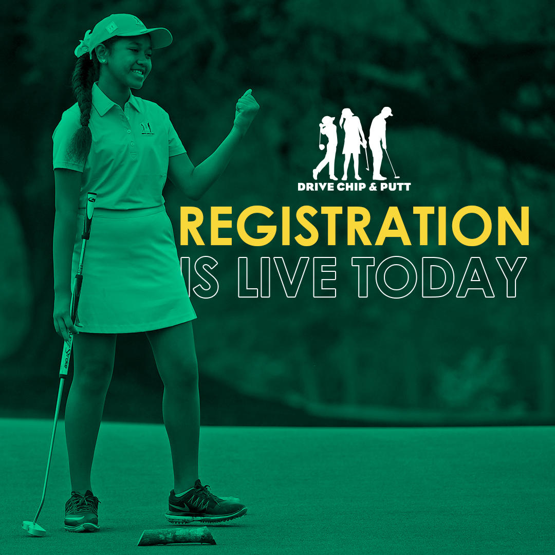 Today's the day! Registration for Drive, Chip and Putt local qualifying is LIVE at !