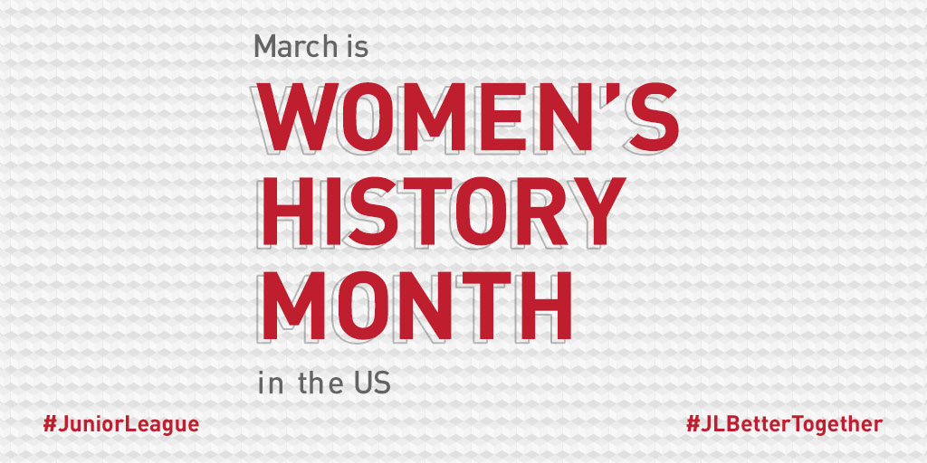 This #WomensHistoryMonth visit  to access resources or learn about #InternationalWomensDay coming up on March 8: #JLBetterTogether #JuniorLeague#JLDeKalb