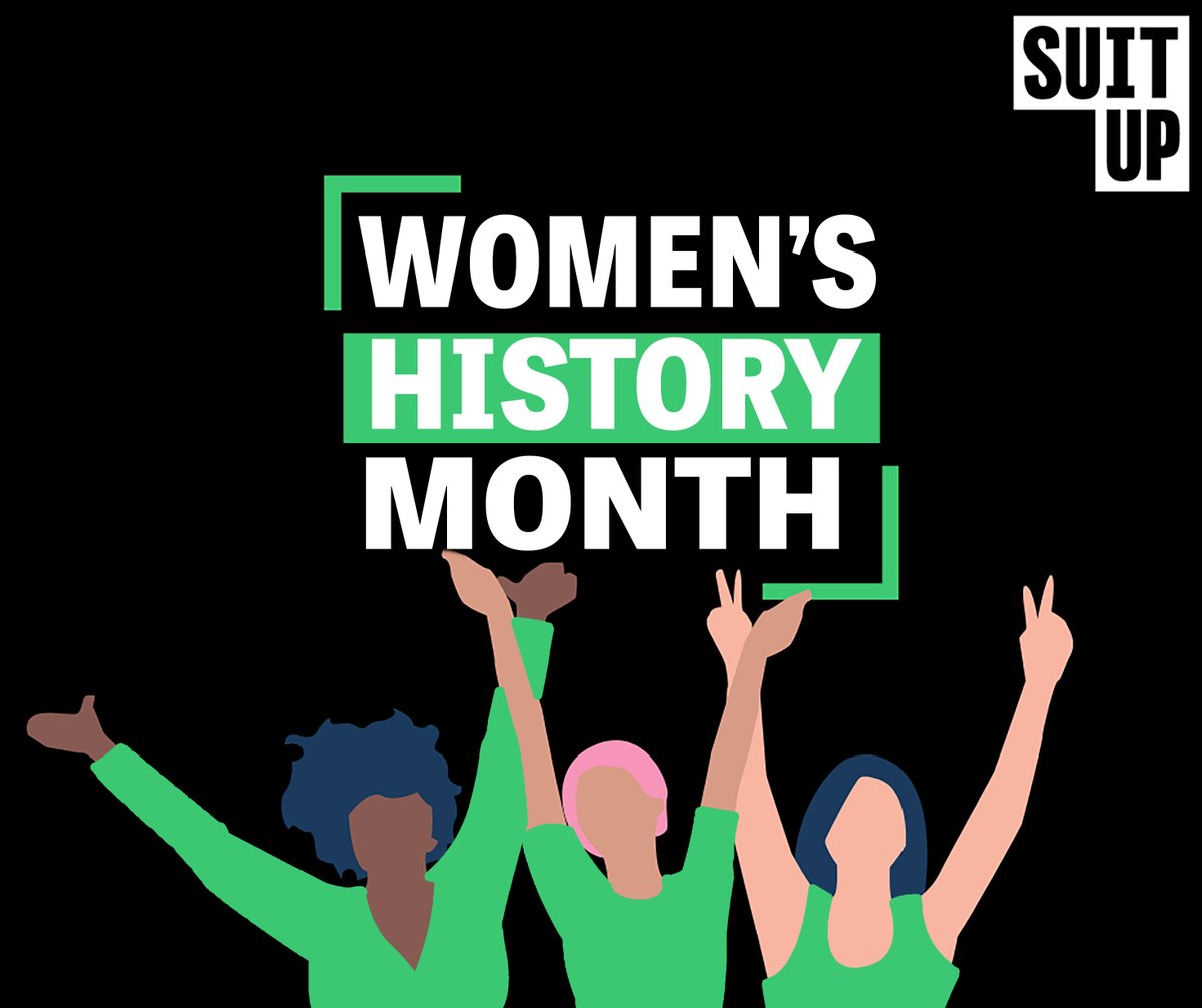 SuitUp is proud to celebrate the contributions and vital roles of women in history!  #volunteerSuitUp #mondaymotivation  #educationmatters #womenshistorymonth #makeanimpact #SuitUpbusinesscompetition