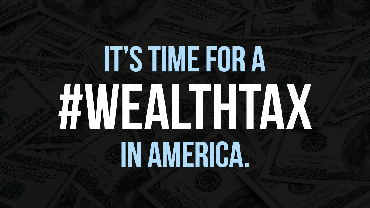Working families pay 7.2% of their wealth in taxes. But the richest Americans pay only 3.2%.  This is backwards, especially when you remember that the latter increased their wealth during this pandemic by over $1 trillion.  America needs a #WealthTax.