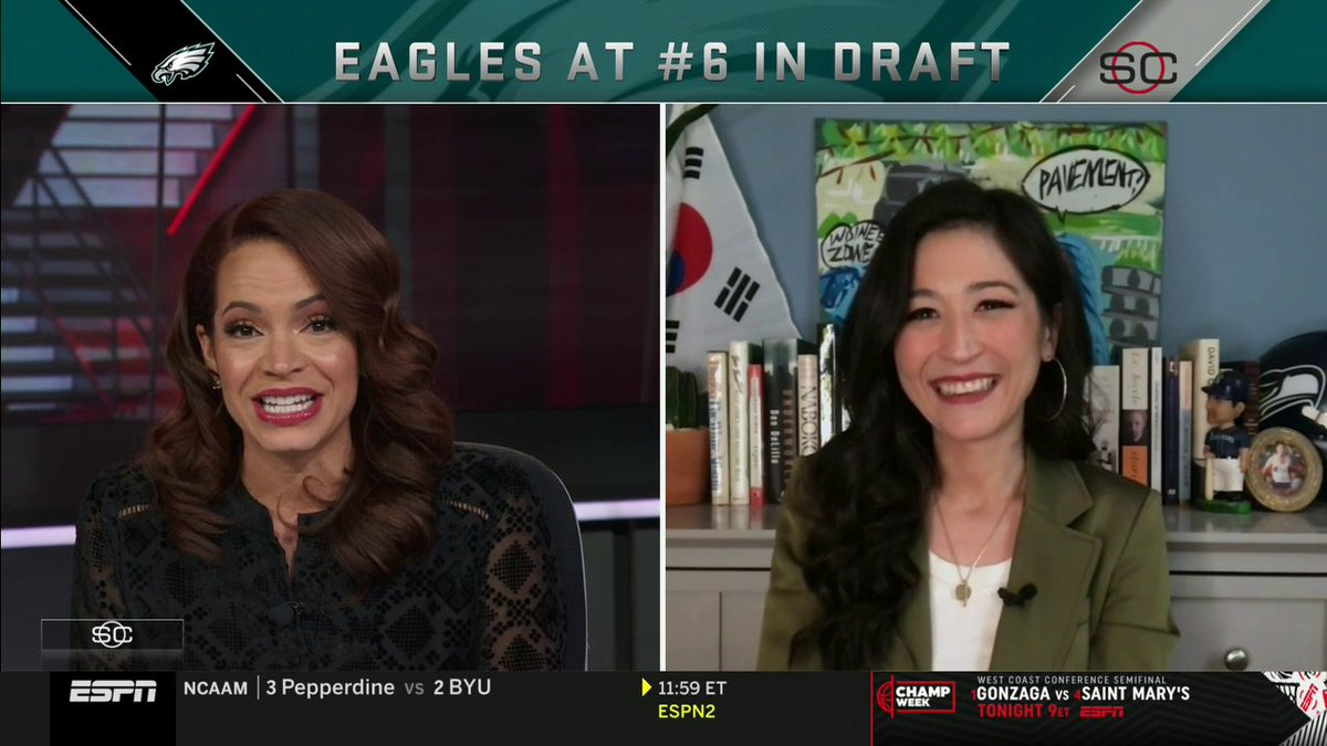 .@elleduncanESPN gives @minakimes the spotlight on #InternationalWomensDay for being an inspiration ❤️