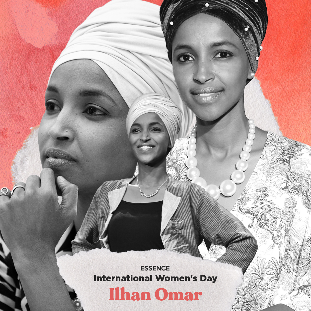 Rep. Ilhan Omar reps Minnesota's 5th Congressional District in the U.S. House of Representatives. She is the first Somali American, the first naturalized citizen of African birth, and the first woman of color to represent Minnesota in Congress. #ESSENCE #InternationalWomensDay
