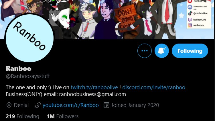 another day. another 1 million that Ranboo speedran. congrats on 1 mil on Twitter Ranboo!!  #ranboo1mil