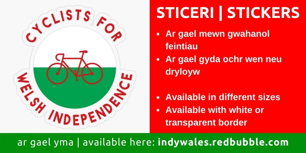Cyclists for Welsh Independence stickers, available here ➡️⬅️ 🏴 #sticeri #stickers #indywales #annibyniaeth #freewales #cymrurydd #dissolvetheunion #yescymru #welshindependence #cyclists #cycling #redbubblestickers