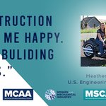 Image for the Tweet beginning: Heather Shreve, U.S. Engineering Construction,