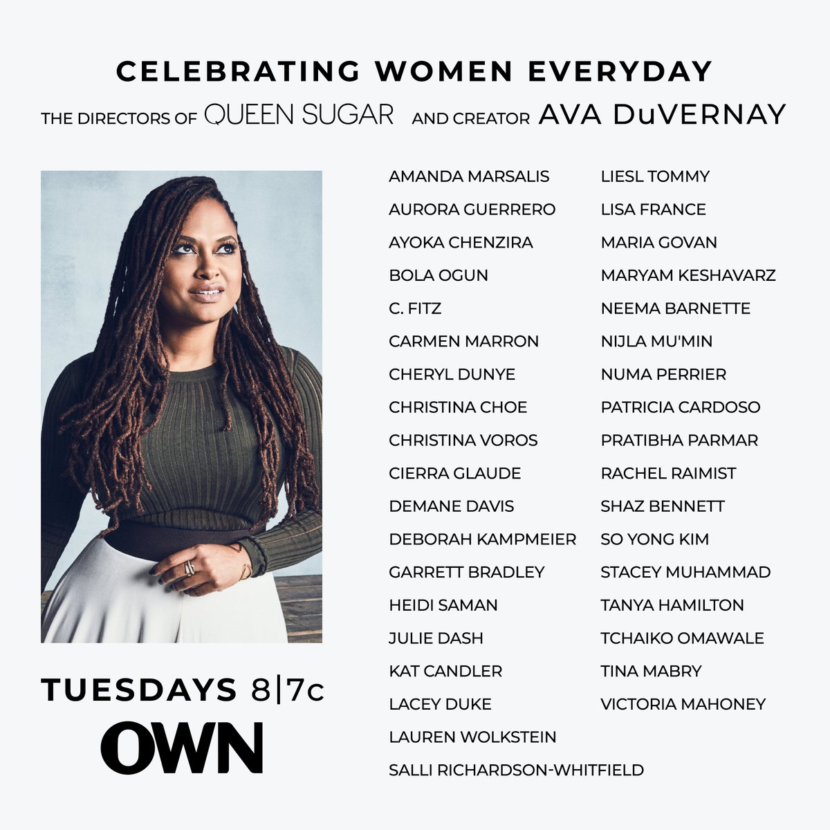 In honor of #InternationalWomensDay, we want to highlight the ALL FEMALE directing team behind ALL FIVE SEASONS of #QUEENSUGAR! 🙌🏾🖤