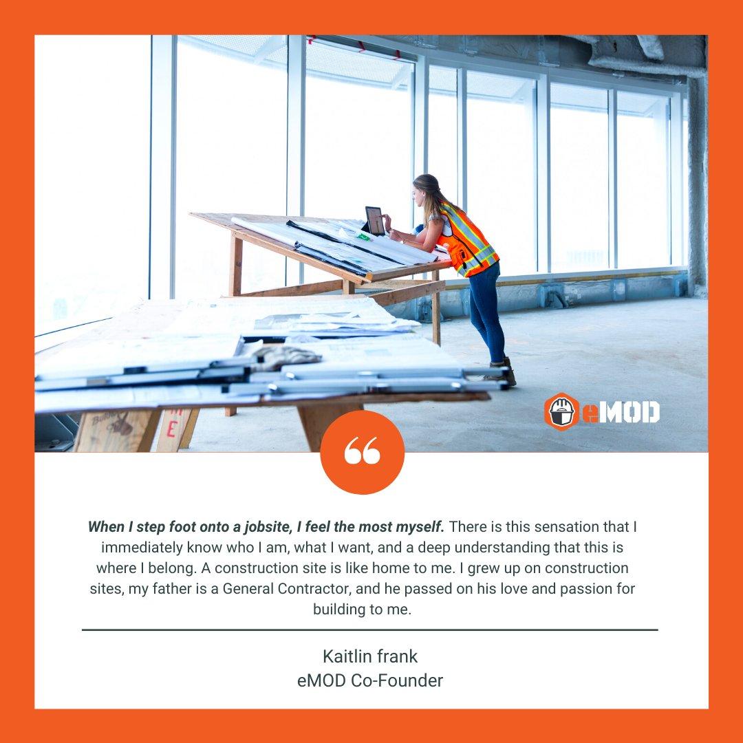 Celebrating International Women's Day and Kicking off Women in Construction Week - From one of our co-founders @KaitlinFrank515   #IWD2021 #WICWeek #WICWeek2021 #womeninconstruction #builtforthefieldbythefield #construction #safety #emod #constructionsafety