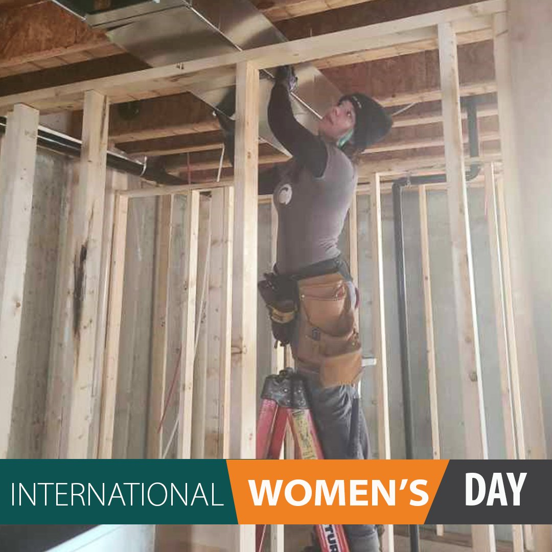 For #InternationalWomensDay we are proud to share just some of the hardworking women in construction that we work with. Say hi to Lisa - one of the heating installers with Arpi's.  #IWD2021 #IWD #ChoosetoChallenge #WomeninConstruction #WomenInBusiness #IWDYYC #YYCHomebuilder