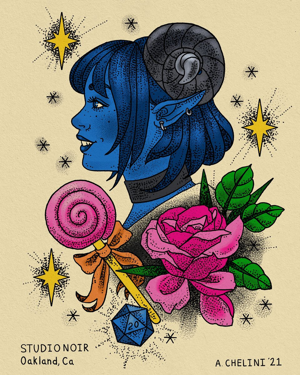"""Little Sapphire, Jester Lavorre! 💙💎I'm pretty new to Critical Role despite being recommended it for years, but it's the only thing tethering me to concepts like """"days of the week"""" now. Is it Thursday yet?? #CriticalRole #CriticalRoleFanart #CriticalRoleArt  @CriticalRole"""