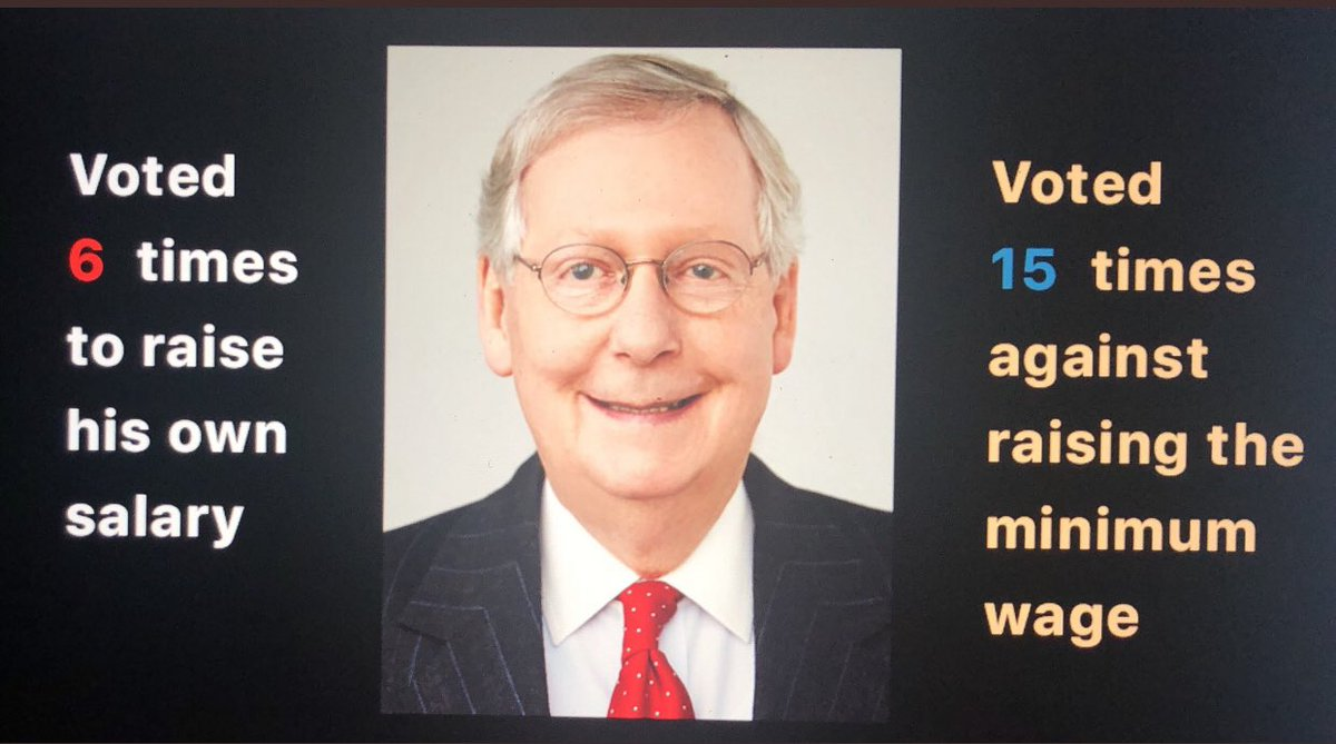 Hey #Kentucky #MoscowMitch #LivingWage #MinimumWage Now we know why Kentucky is the 6th poorest state in our country. But you will elect him again huh... #OprahMeghanHarryAfrica #HarryandMeghanonOprah #MeghanMarkle #meghanharryoprah