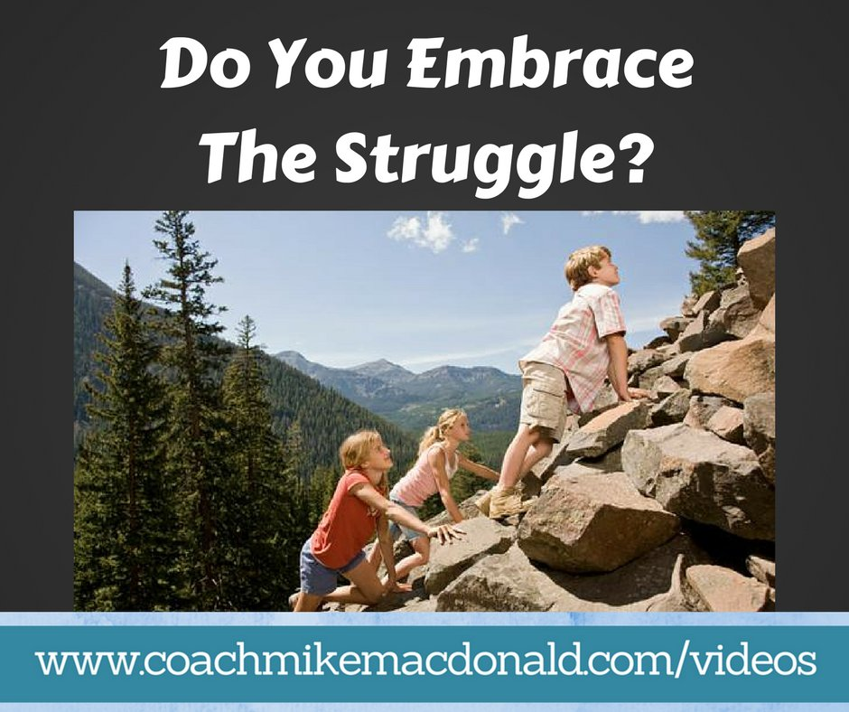 Do you embrace the struggle?  Check out the post here:   #success #goals