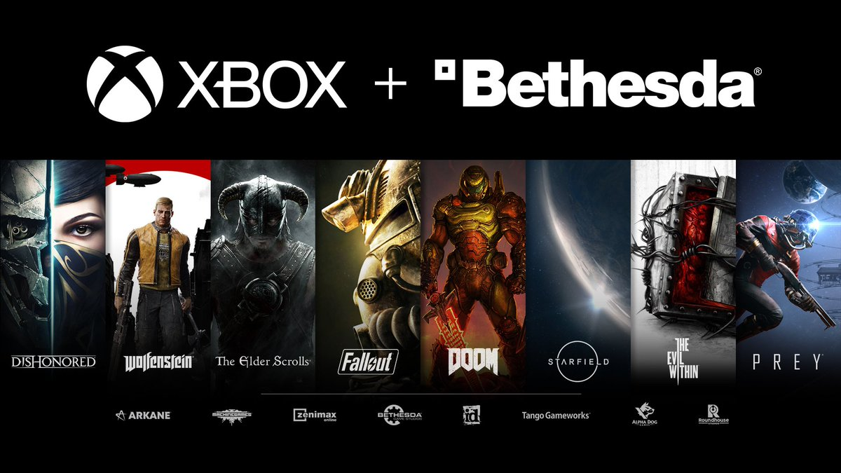 Microsoft's acquisition of Zenimax / Bethesda deal is complete  Microsoft/ Xbox  - Adds 2,000+ staff - Adds 8 studios - Has 23 1st party studios - Now owns Fallout, The Elder Scrolls, DOOM, & more IP  #XBox #Bethesda #XBoxSeriesX  #XBSX #XSX #XBoxSeriesS #XBSS #XSS #Games #Gaming