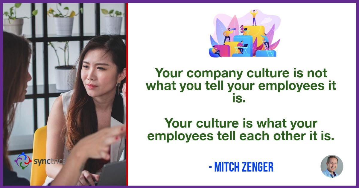 Why do we put stupid culture banners up and down every hallway??? We need to support real conversations about culture across the organization! @mitchzenger @synctrics   #Leadership #Wellbeing #Goalvana #HRTech #HR #Jobs #Goals #PeopleAnalytics #Synctrics