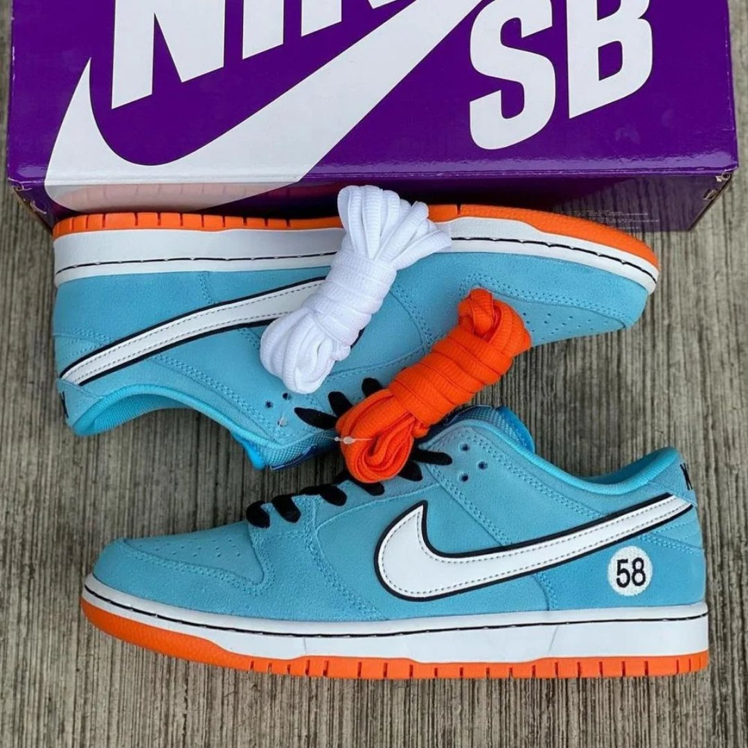 #March is going to be packed with some serious heat 🔥 One of our favorites releases are #Nike's #SB #DunkLow 'Gulf', which pays tribute to the legendary 1970's 917K #Gulf #Porsche.   What are your thoughts on this release?  #sneakerscouts #sneakerheads #nikebyyou #DUNKS #DUNKSB