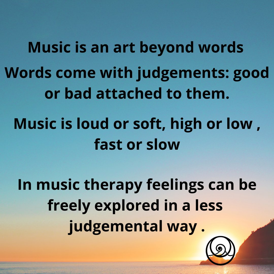 What are the differences between music therapy and talking therapies? In music therapy you don't have to use words. If you can't talk or if words are just too painful to use music can be a helpful medium for relating and communicating. #MHHSBD #MondayMotivation