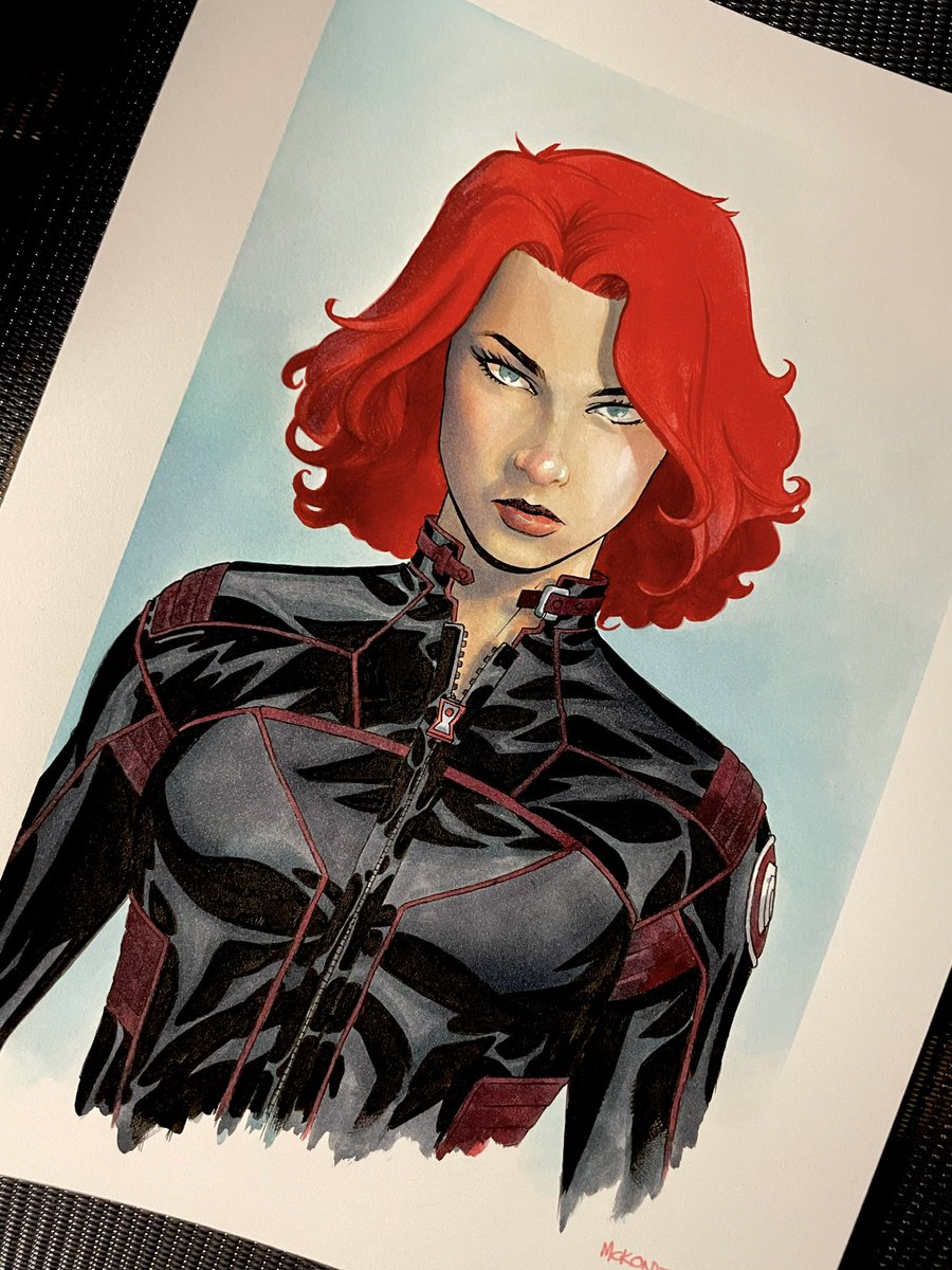 Black Widow  #blackwidow #marvel #99redux #mckone  All 99 busts will be available on Saturday, March 6 at 12.00pm PST. You can sign up to Tatiana's news letter at  or join the TD art group at  for more information.
