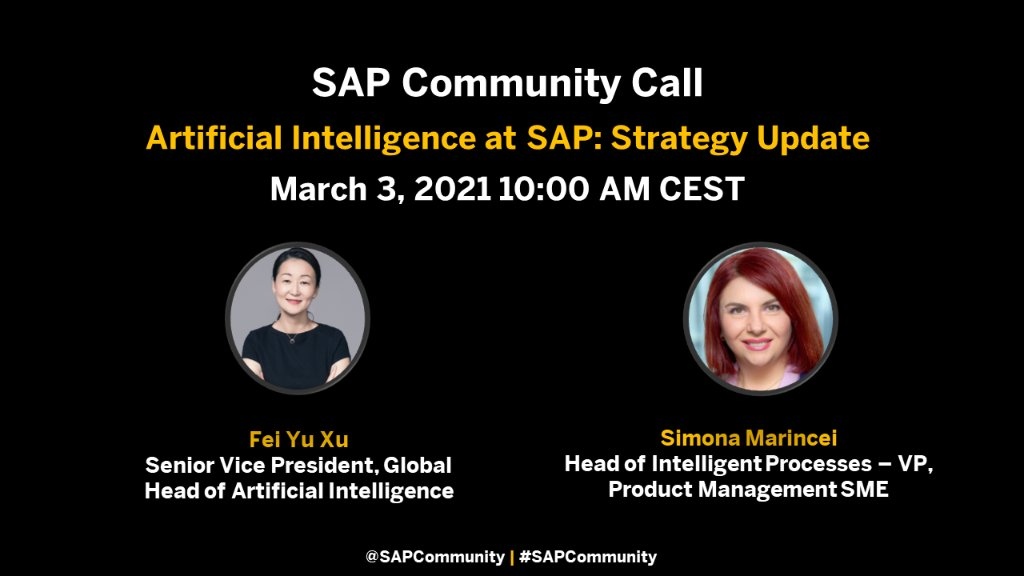 Learn about SAP's AI strategy, how SAP infuses AI into applications and business processes by embedding AI into its standard portfolio and see a hands-on example of how small and mid-size enterprises use AI.  Join this interactive discussion: https://t.co/9BXoRXiONK https://t.co/P1qCZBGzPx