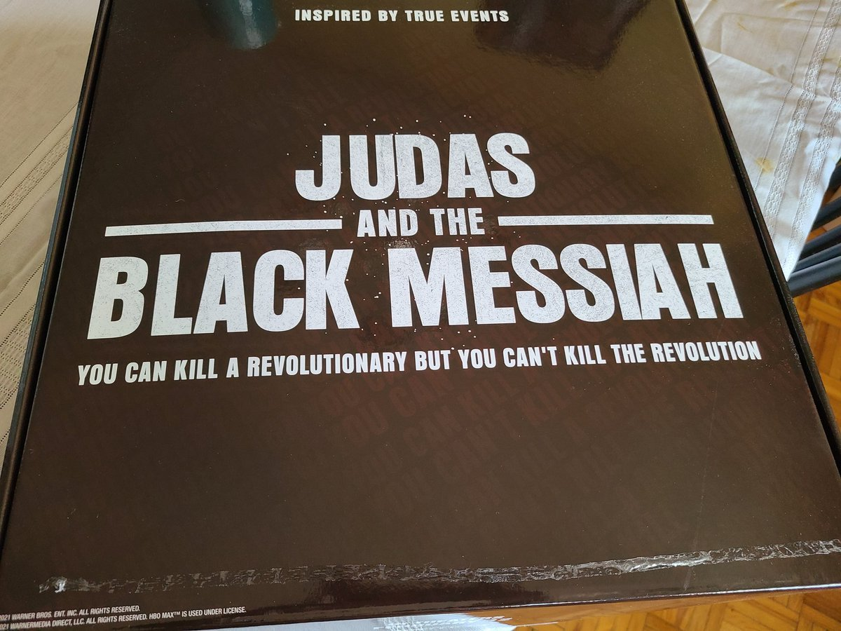 Thank you to @hbomax for my care package. It's a joy to be part of @theaafca, and speaking with Daniel, Lakeith, Shaka, Charles and Chairman Fred Jr., for our #JudasAndTheBlackMessiah roundtable meant a lot.🖤🤎  (I may have been just as exited over the black bubblewrap too🤭)