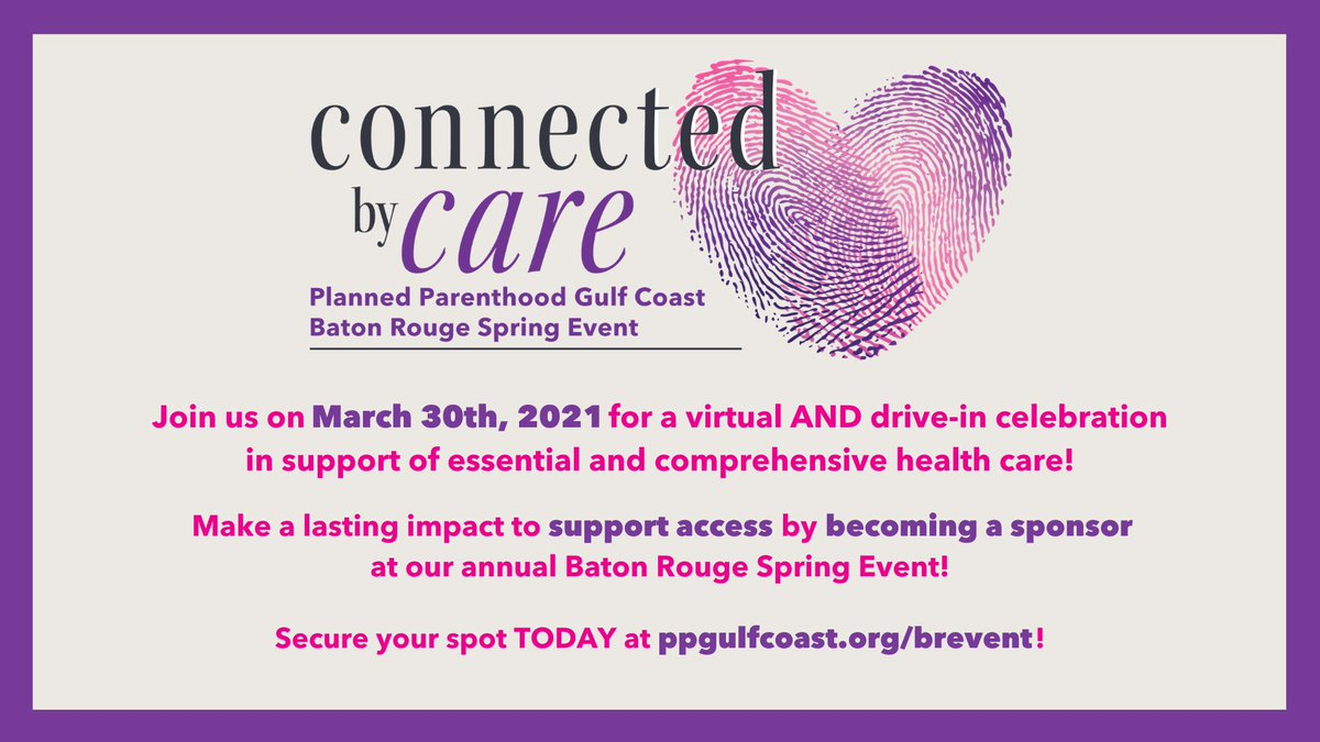 Our annual Baton Rouge Spring Event is 1 month away! Help ensure that all Louisianans have access to the repro health care they need. Your gift will help strengthen the health of our community during this essential time. For sponsorships & tix visit: .