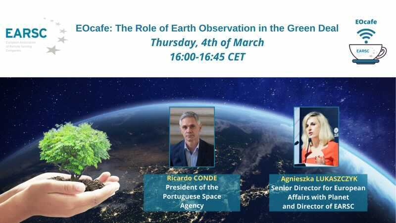 Want to learn more about how satellites can aid the #EUGreenDeal? Register for the @earsc #EOCafe and join Ricardo Conde and myself this Thursday! @planetlabs @portugalspace earsc.org/2021/02/26/eoc…