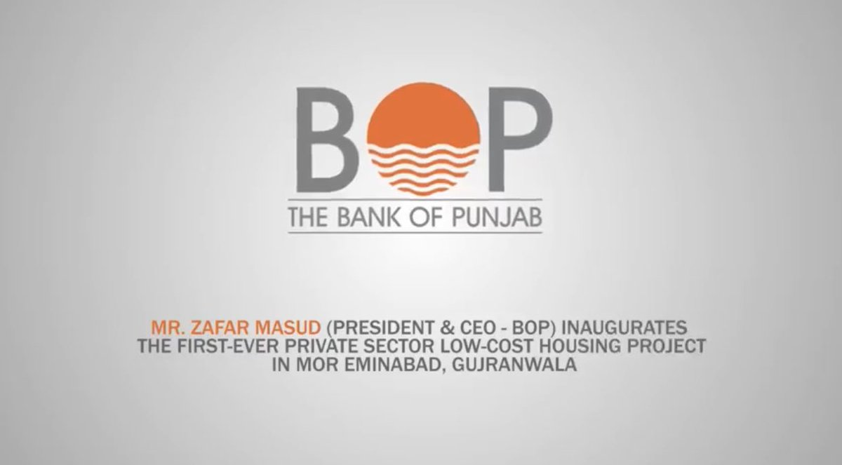 Mr. Zafar Masud (President & CEO - The Bank of Punjab) inaugurated the first-ever private sector Low-Cost Housing Project in Mor Eminabad, Gujranwala.   #BOP #TheBankOfPunjab #LowCostHousing #MorEminabad #Gujranwala #Inauguration #HarFardKaKhayal