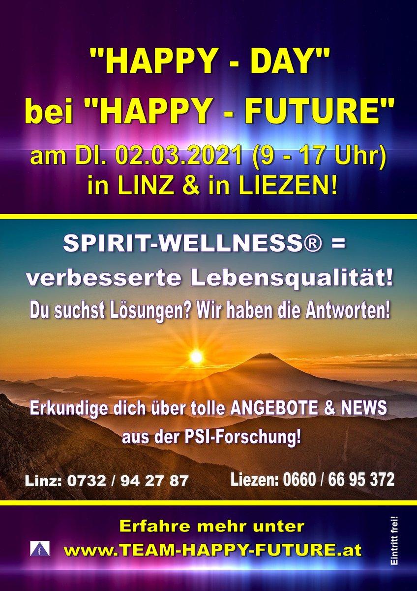 """""""HAPPY - DAY"""" bei """"HAPPY - FUTURE"""" in #Linz & #Liezen! Erfahre mehr:  #Gesundheit #Wohlbefinden #WorkLifeBalance #Facebook #blog #blogger #PSI #Forschung #PsiResonanzMethode"""