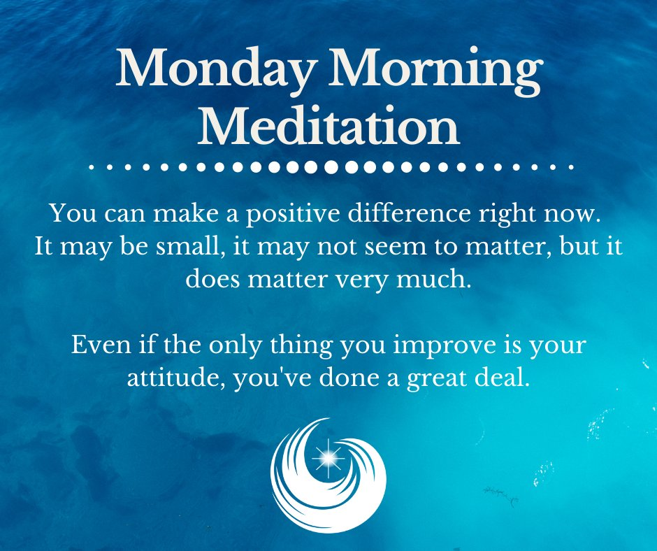 """3/1/21 """"A Positive Difference""""  This moment will quickly pass whether you make use of it or not. Use it to make a positive difference, and see for yourself how many great possibilities suddenly appear.  #mondaymorning #meditation #motivation #spiritualjourney #missiondriven"""