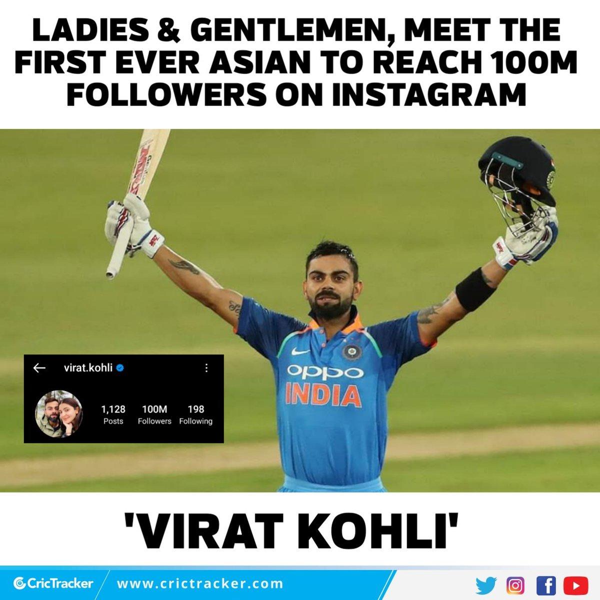 Yet another century for Virat Kohli.  #ViratKohli | #Cricket | #instagram | #CricTracker
