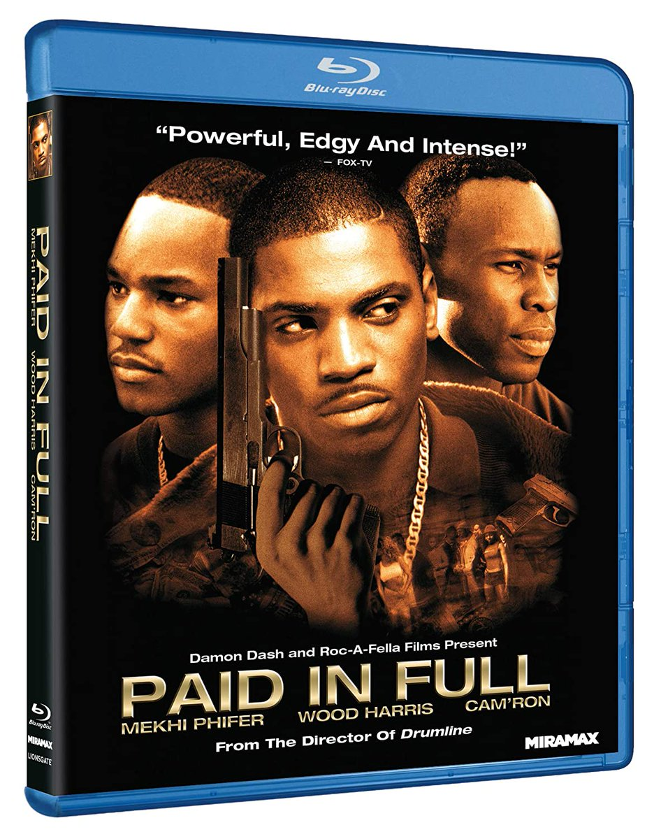 The crime drama PAID IN FULL (2002) starring Mekhi Phifer, Wood Harris and Chi McBride has been released on DVD & Blu-ray (reissue)    #bluray #paidinfull #action #mekhiphifer #woodharris #reginahall #chimcbride @ParamountPics @MekhiPhifer