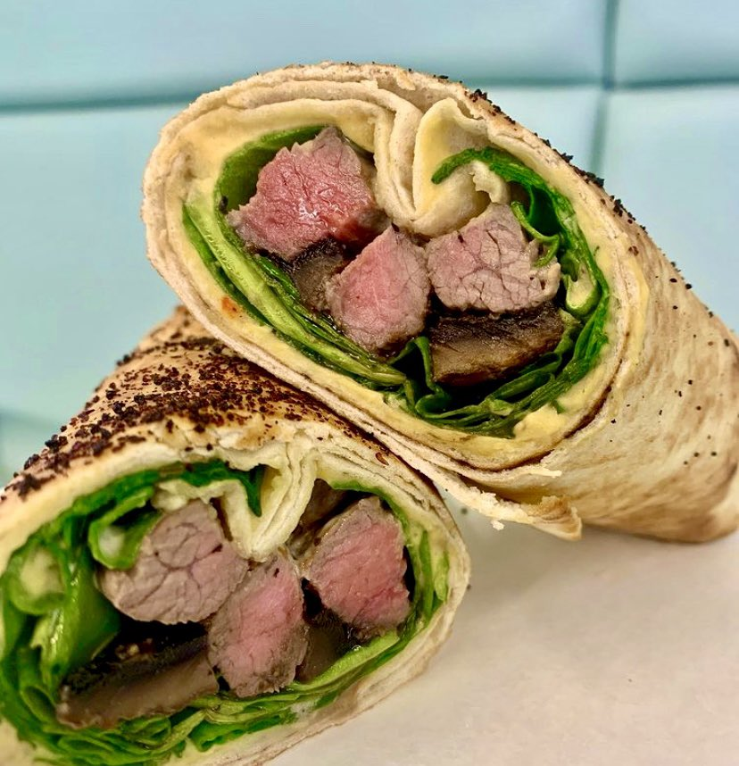 Start the week with an incredible lunch from Box'd 💚 Try our Chimichurri Striploin Wrap today! Order now:    #boxdbyparamount #realchefs #freshfoodfast #healthy #contactless #toronto #steakwrap #lunch #foodies @mohamadfakih8 @ahmaddaify1