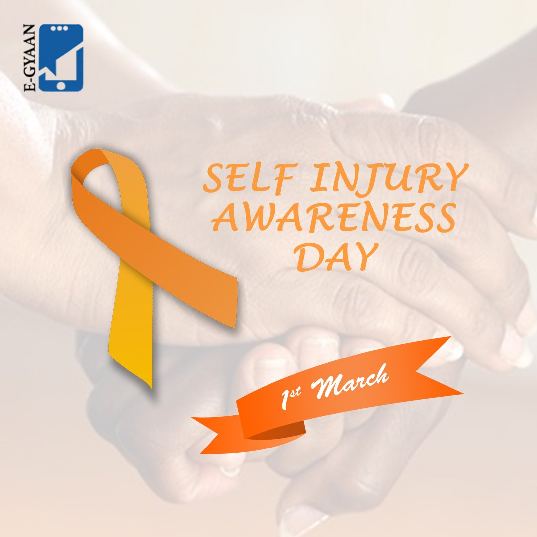 """""""Self-Injury Awareness Day"""" #selfinjuryawarenessday #selfinjuryawareness #selfinjuryrecovery #egyaan #edtech #MakeInIndia #MadeInIndia #health #fitness #healthylifestyle #motivation #wellness #healthy #love #workout #lifestyle #life #instagood #selfcare #healthyliving"""