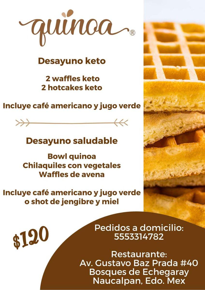 🟢Promoción de desayunos🟢 Saludables y Keto En restaurante y a domicilio . . 📞5553314782 . . #VidaQuinoa #healthy #gourmet #keto #saludable #desayuno #waffle #hotcake #chilaquiles #bowl #quinoa #cafeamericano #shot #jengibre #miel #avena #vegetales #promocion