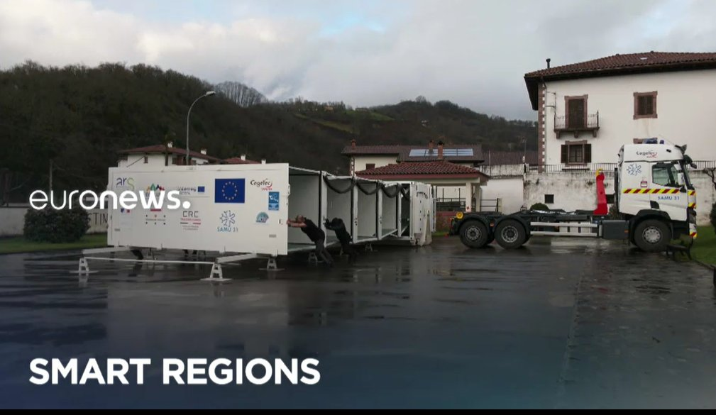 #SmartRegions: have you already seen a foldable hospital? 🏥 Don't miss tonight's episode on @euronews (9:50 pm CET): this #CohesionPolicy funded project can quickly bring relief to regions in need of healthcare support. #StrongerTogether