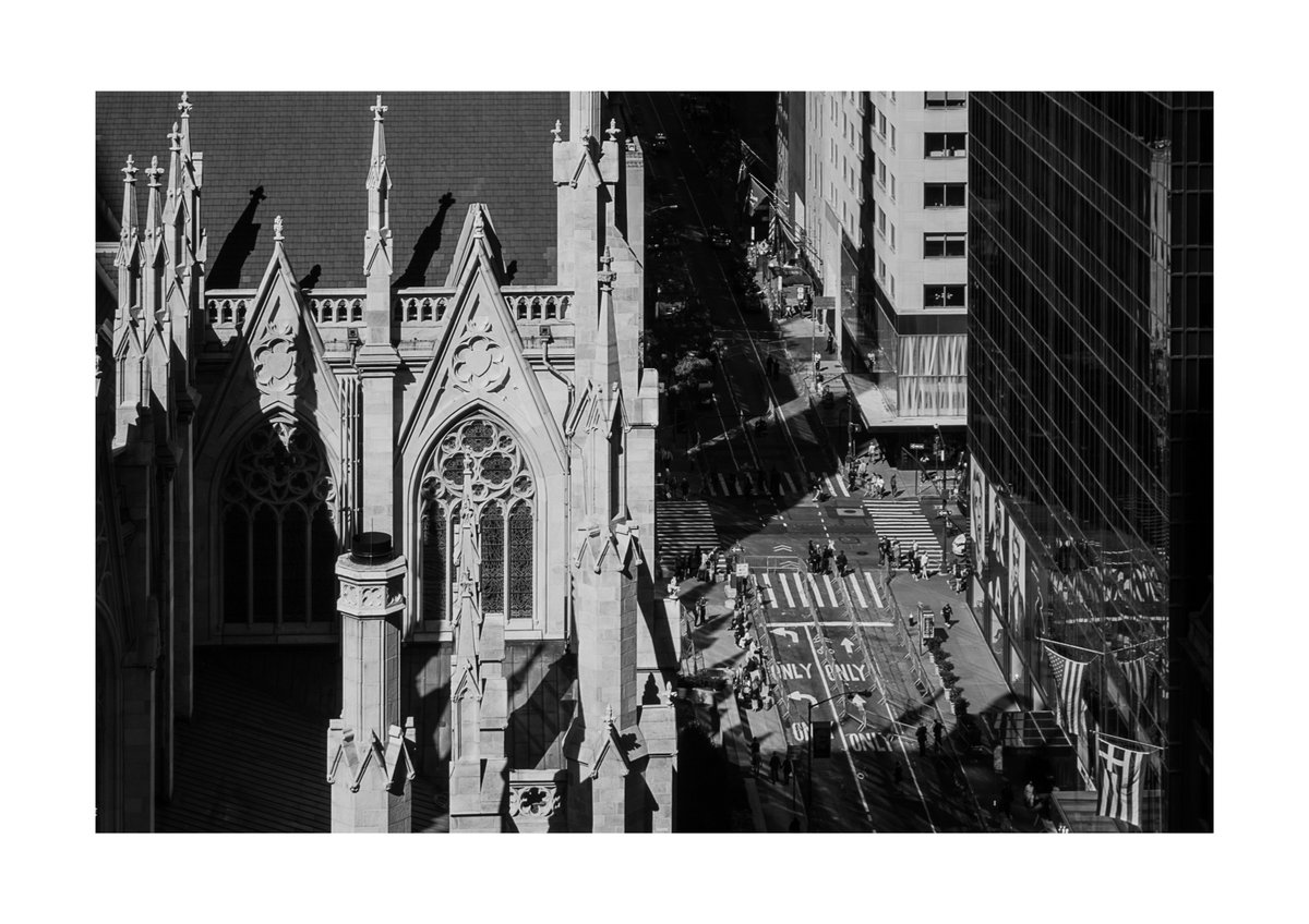 'St. Patrick's Cathedral'  Shot from the The Lotte New York Palace #newyork #manhattan #nyc #nycspc #stpatrick #cathedral #bnw #streetphotography @NYCDailyPics @nycfeelings @JoeMcNallyPhoto
