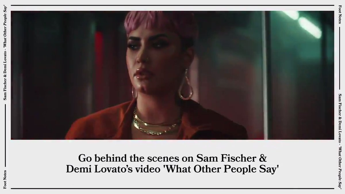 """In making """"What Other People Say,"""" @samfischer says he hopes people """"feel seen and heard."""" 🚇 Footnotes has all the details on his emotional collab with @ddlovato, their timely message of the song, and more 🎥 ⠀⠀⠀⠀⠀⠀⠀⠀⠀ ▶️"""