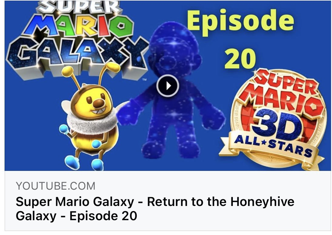 📺📺 New Video Up Now 📺📻  Join Mario as we return to the Honeyhive Galaxy to rescue Luigi and meet someone familiar🤔  NabNation😁  ❗️Link Bellow❗️    #YouTube #YouTuber #SuperMario3DAllStars #SuperMarioGalaxy #Youtubers #gaming #gamer #supermario35 #like