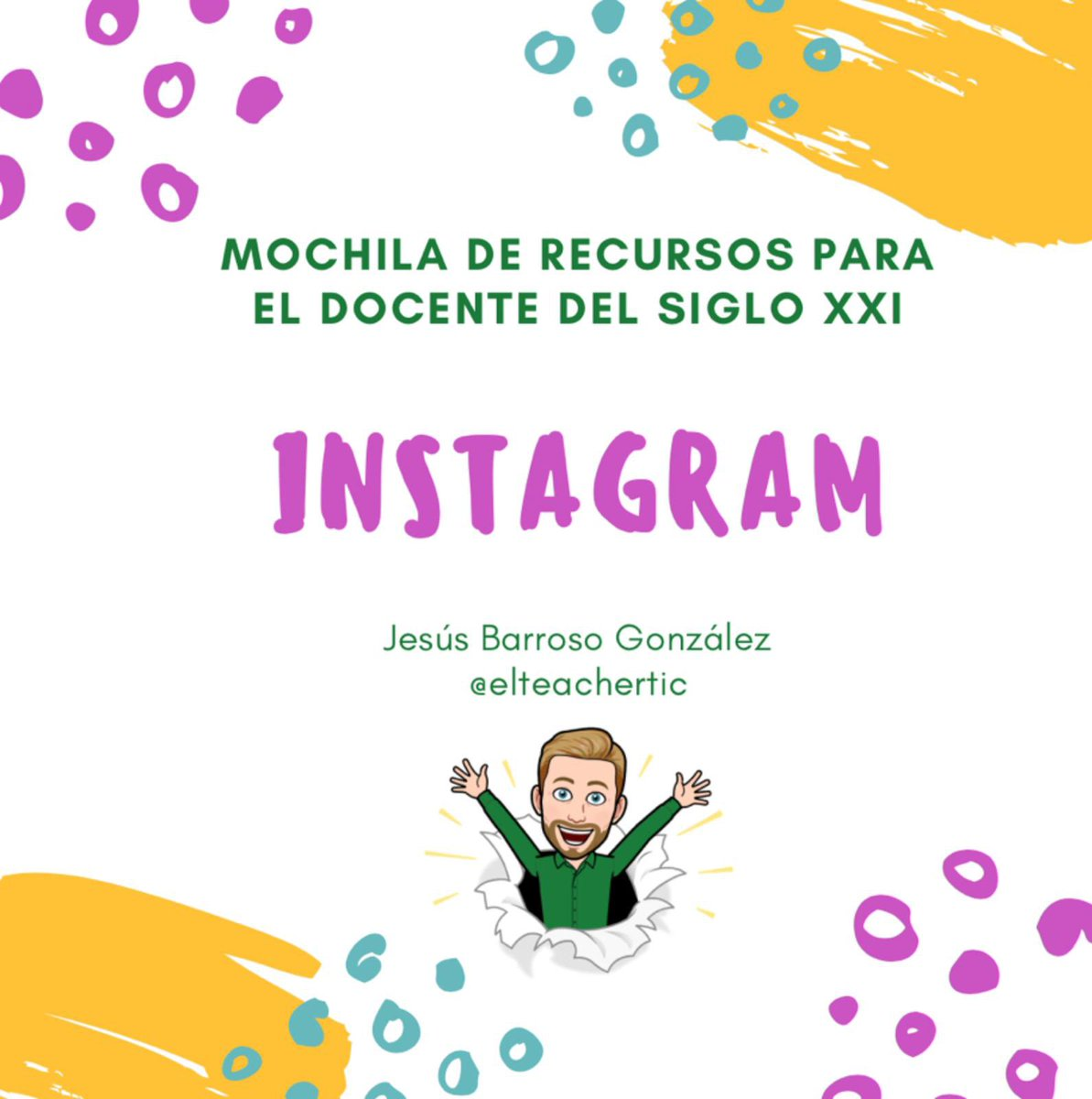 Seguimos llenando la mochila con recursos para el docente del s. XXI. Hoy @Jesusbarroso84 abre la ventana de #Instagram, un mundo de ideas e inspiración docente y discente #formaciónCyL #tiCYL