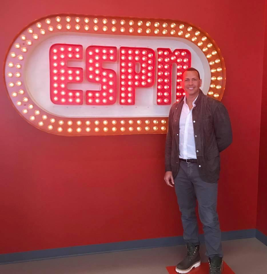 ⚾️Three years ago today, @AROD made his first visit to ESPN upon joining the Sunday Night Baseball team. He begins his fourth season of ESPN baseball coverage one month from today for the exclusive Opening Night broadcast.⚾️