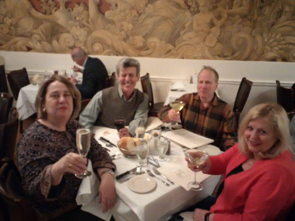 A couple of years ago with friends @PatsysItalRest #NYC. It was here that I met @jazzmatchmaker . Friends since then!