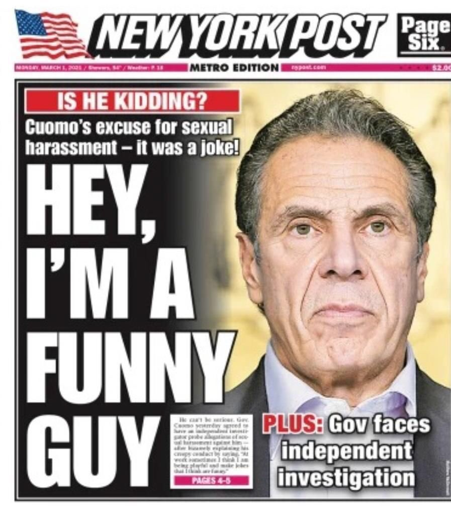 """We Italian have a thing we like to say at a time like this.  In the words of the great Italian Saint Joe Pesci: """"FUNNY HOW?""""  #Cuomo #CuomoCoverup #CuomoResign #COVID19 #nyc #newyork #goodfellas"""