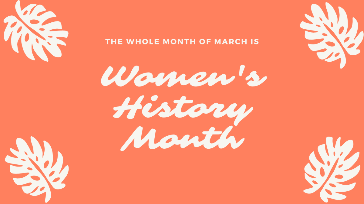March is #WomensHistoryMonth! Stop by the libraries to see the displays we have put together in honor of women and their courageous history!