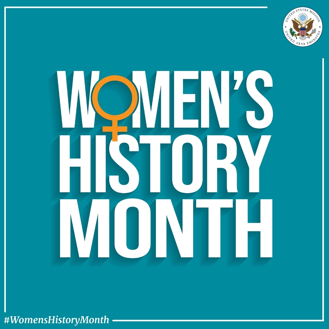 Today marks the start of #WomensHistoryMonth, a celebration of American women's achievements. Follow us this month as we highlight American women's contributions from the past to the present.  #SharingCultures